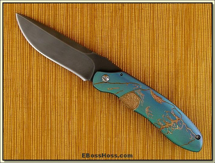 Matt Cucchiara Engraved Rhino Framelock Flipper