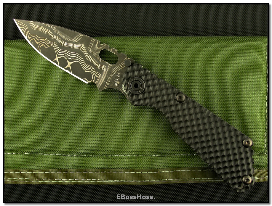 Mick Strider MSC Custom SnG Spearpoint - MSC Damascus