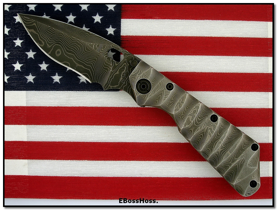 Mick Strider MSC Damascus XL Dagger
