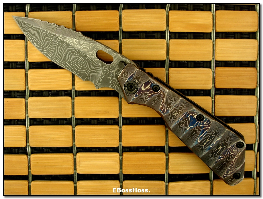 Mick Strider MSC Damascus XL SnG - Dragon-Spine Dagger Grind