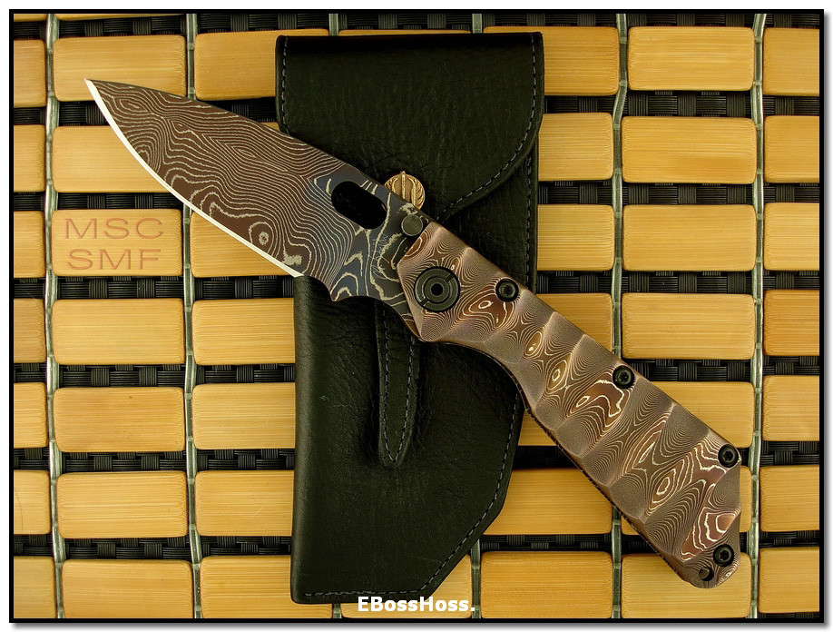 Mick Strider MSC All-Damascus SMF - Dagger Grind