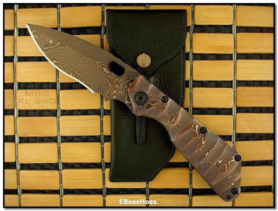 Mick Strider MSC All-Damascus XL SnG - Dagger Grind