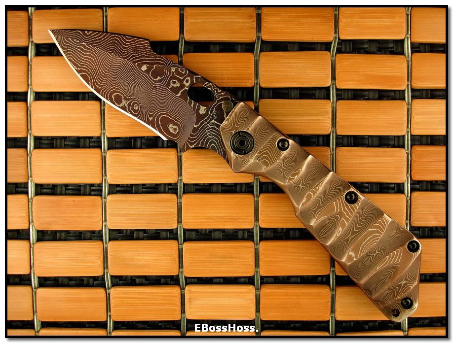 Mick Strider MSC All-Damascus XL SnG - Shark-Fin Dagger