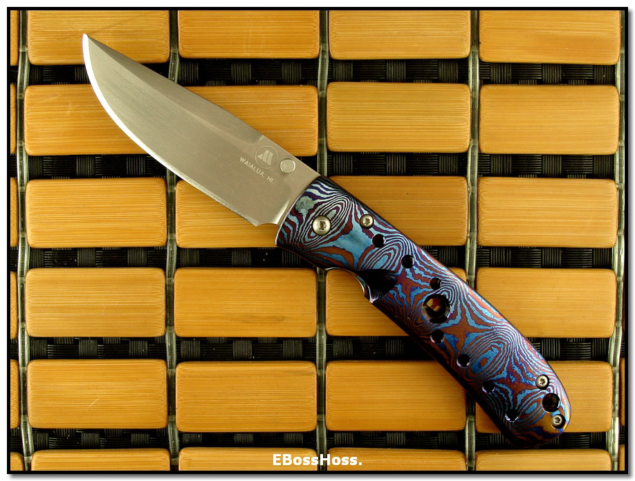 Tom Mayo Small Timascus Drop-Point