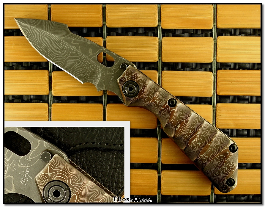 Mick Strider MSC All-Damascus SnG - Harpoon Grind