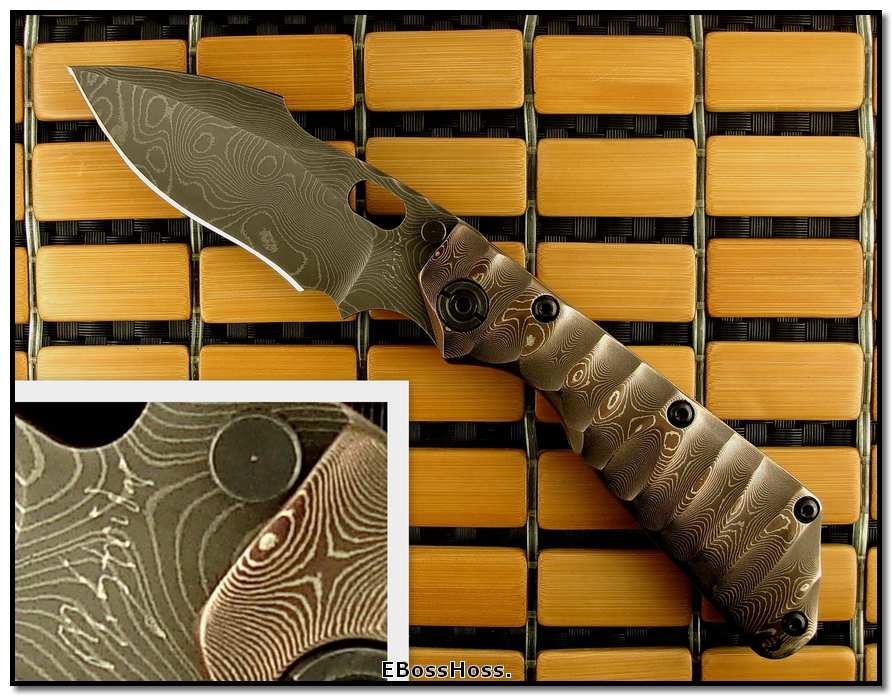 Mick Strider MSC All-Damascus SMF - Harpoon Grind