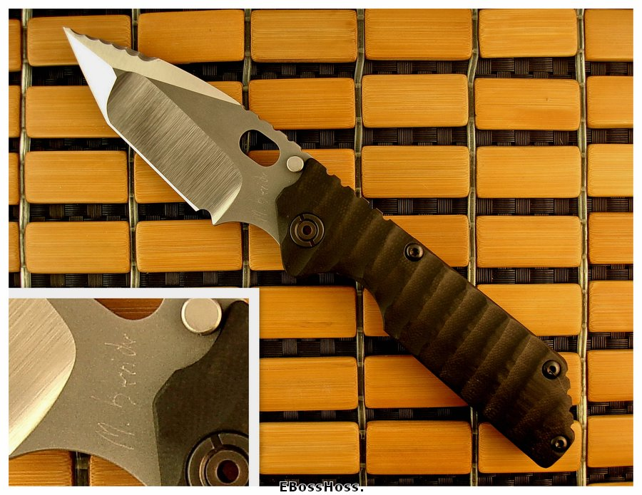 Mick Strider Custom Framelock GB Serrated
