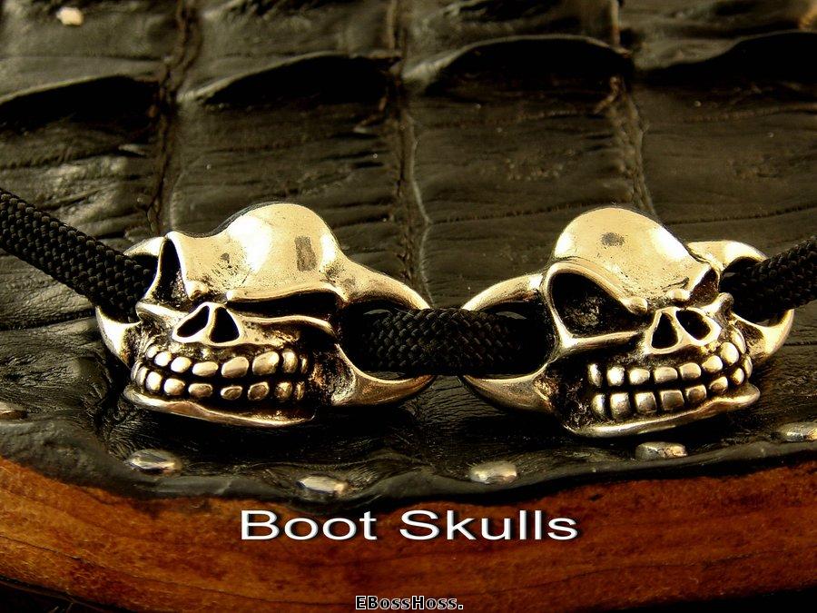 Starlingear Sterling Silver Boot Skulls