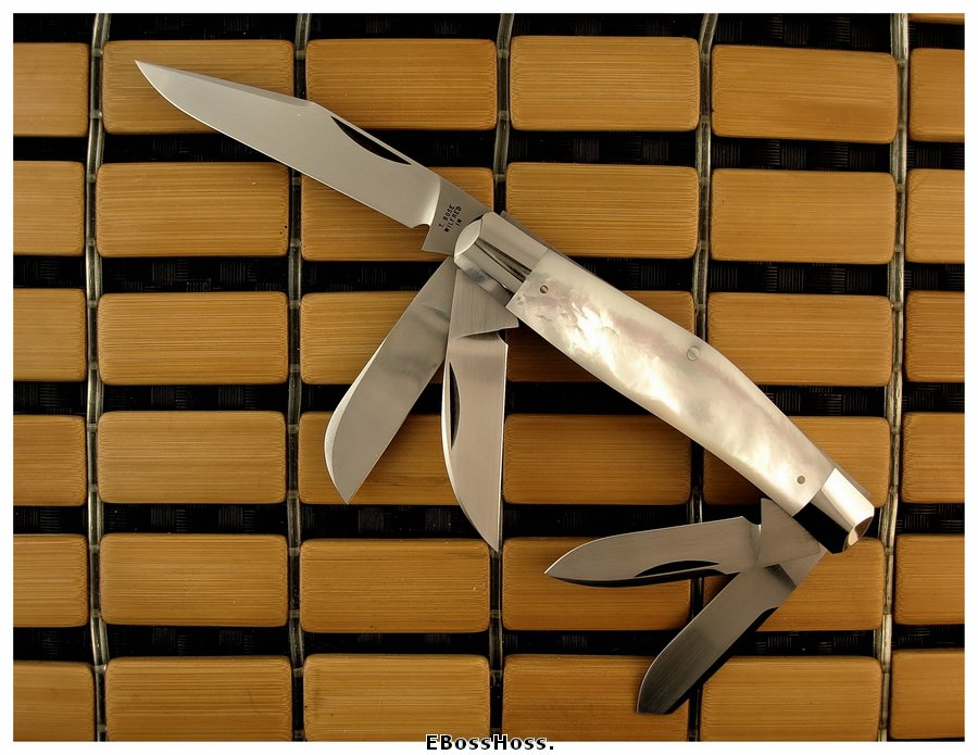 Tony Bose 5-Blade Stockman in Mother of Pearl