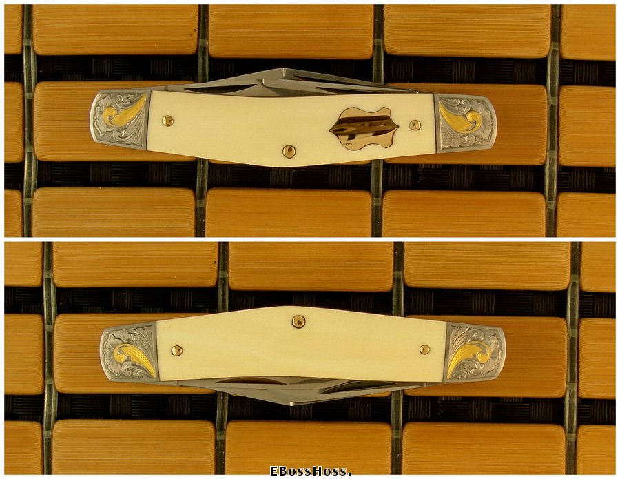 Joel Chamblin 3 3/4-inch Ivory Stockman engraved by Jim Small