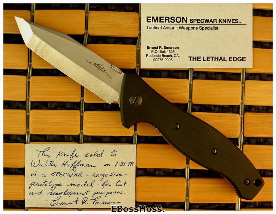 Ernie Emerson SpecWar (Large) Prototype
