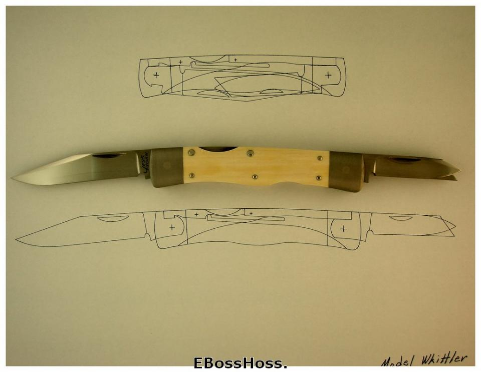 Jess Horn Natural-handle Lockback Whittler Prototype