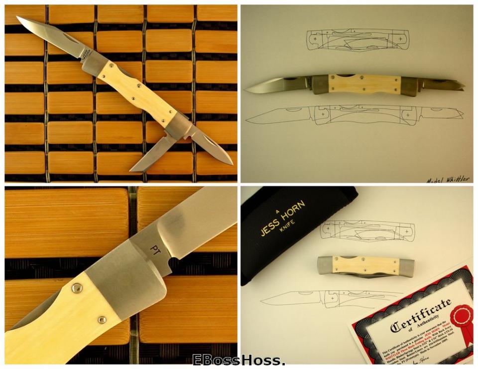 Jess Horn Natural-handle Lockback Whittler Prototype