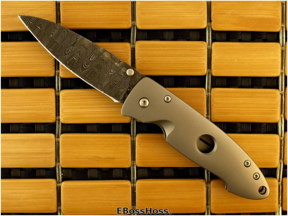 Tom Mayo Small Damascus Wharnie (Model not yet named)