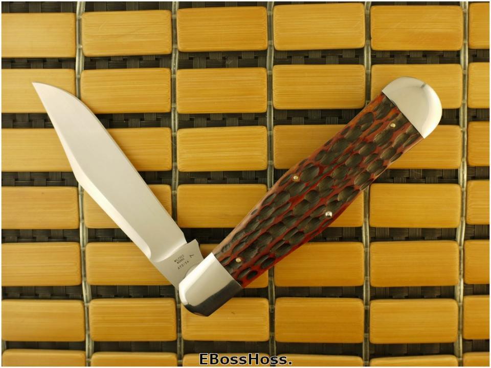 Tony Bose 5 3/8-inch Jigged AG Russell Bone Coke Bottle