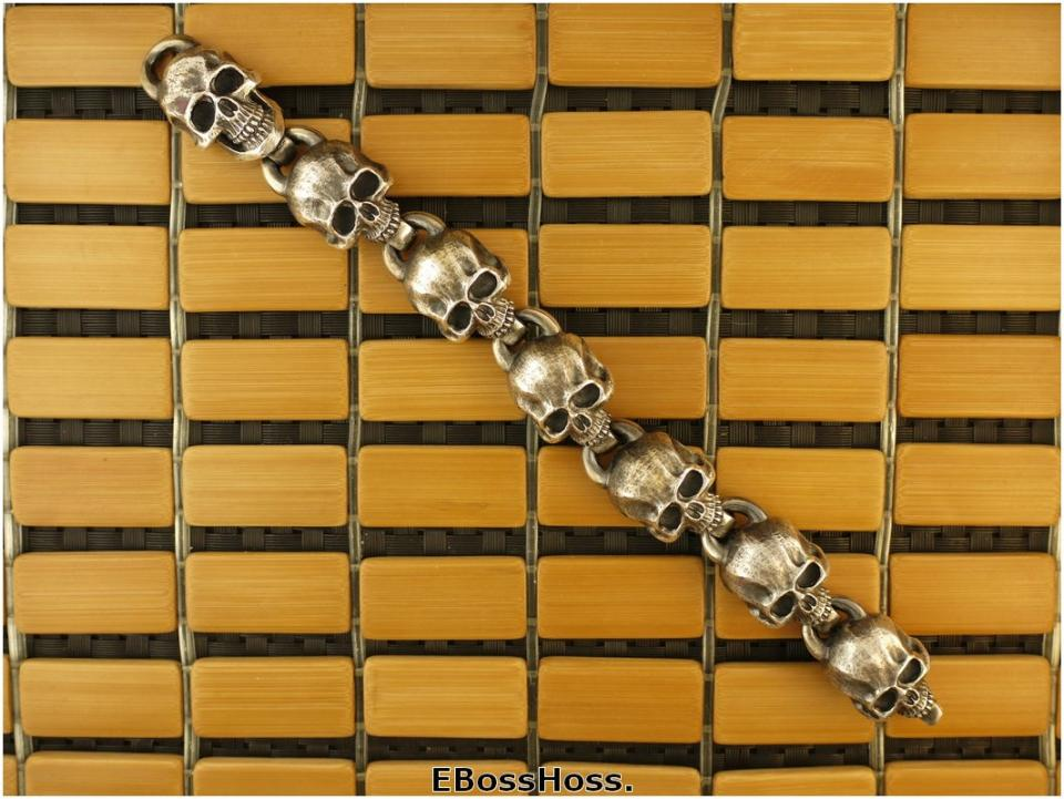 Steel Flame Sterling Silver Headhunter Bracelet