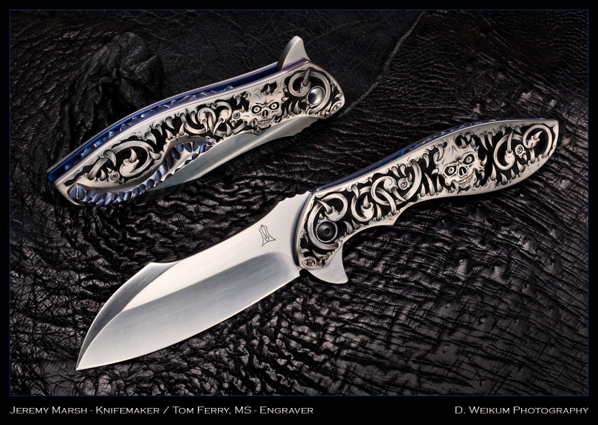 Jeremy Marsh Vanquish Flipper - Masterfully engraved by Tom Ferry