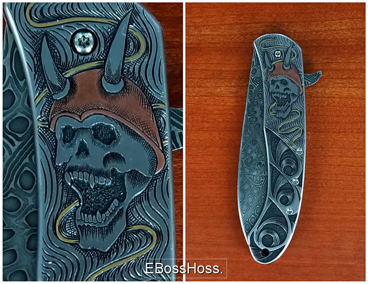Jody Muller Sole-authored Engraved Skulls Flipper
