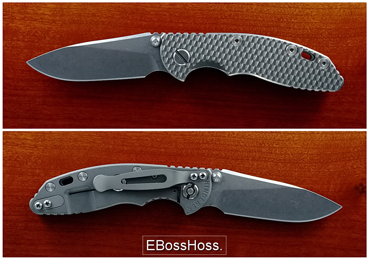 Hinderer XM-18 3-inch-Bladed w/Titanium Scale