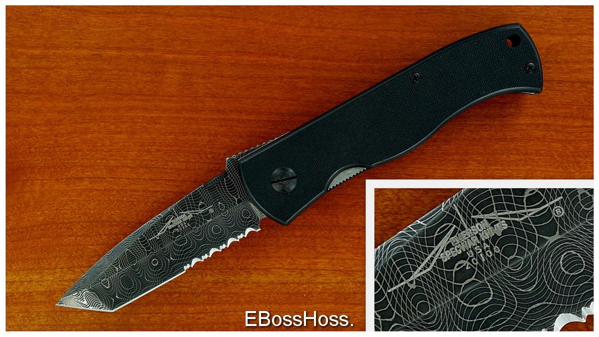 Ernie Emerson Custom (Specwar-Logo) Damascus CQC-7
