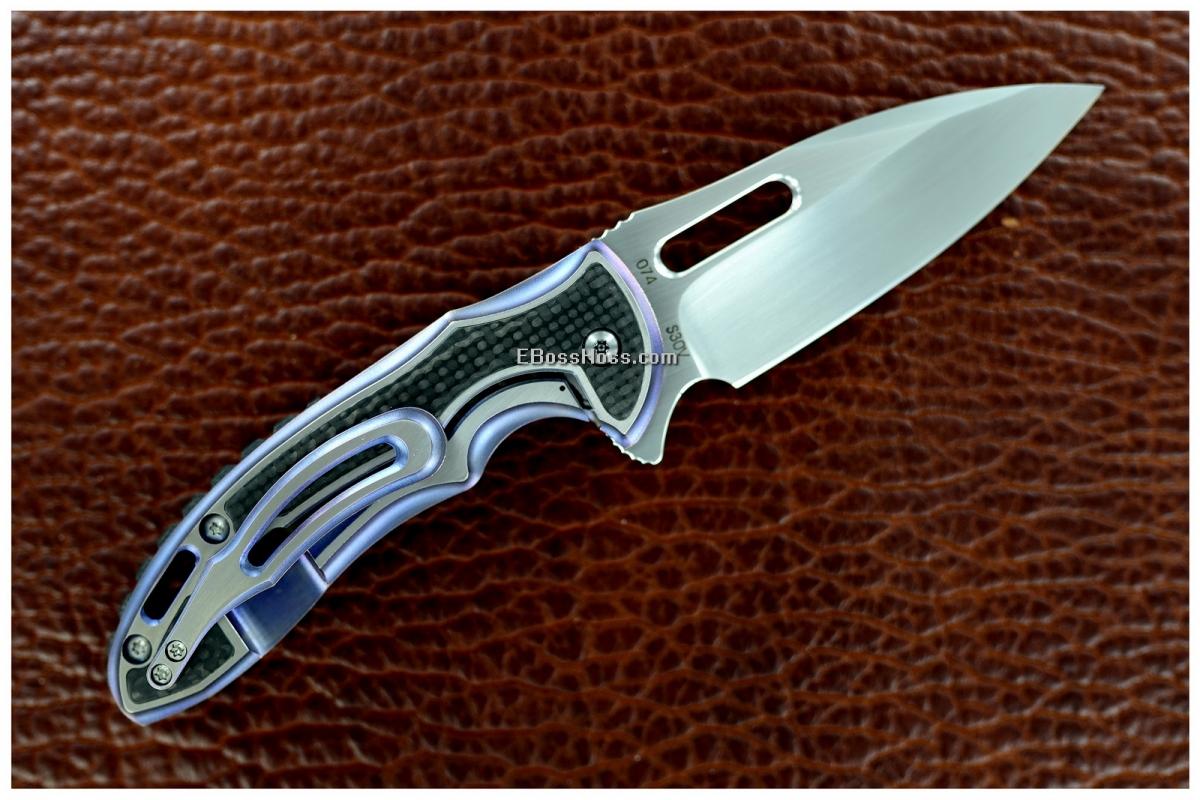 Korth Cutlery Cigar-smoking Carved Sentry Flipper