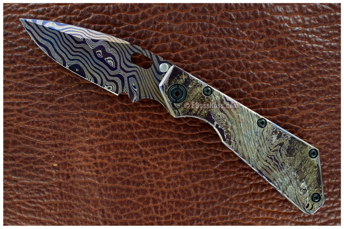 Mick Strider Custom Textured-Damascus SMF