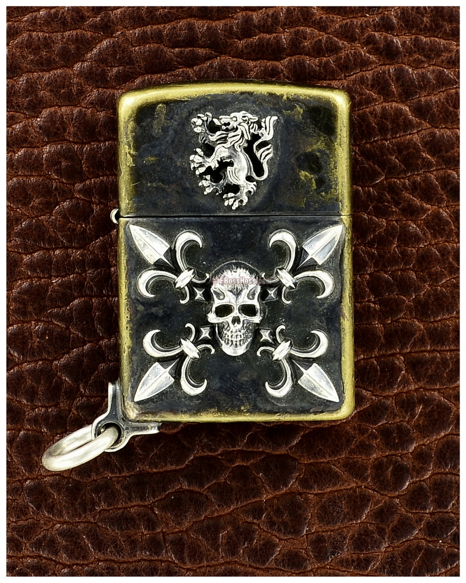 Steel Flame One-off Custom Darkness / Lion Zippo