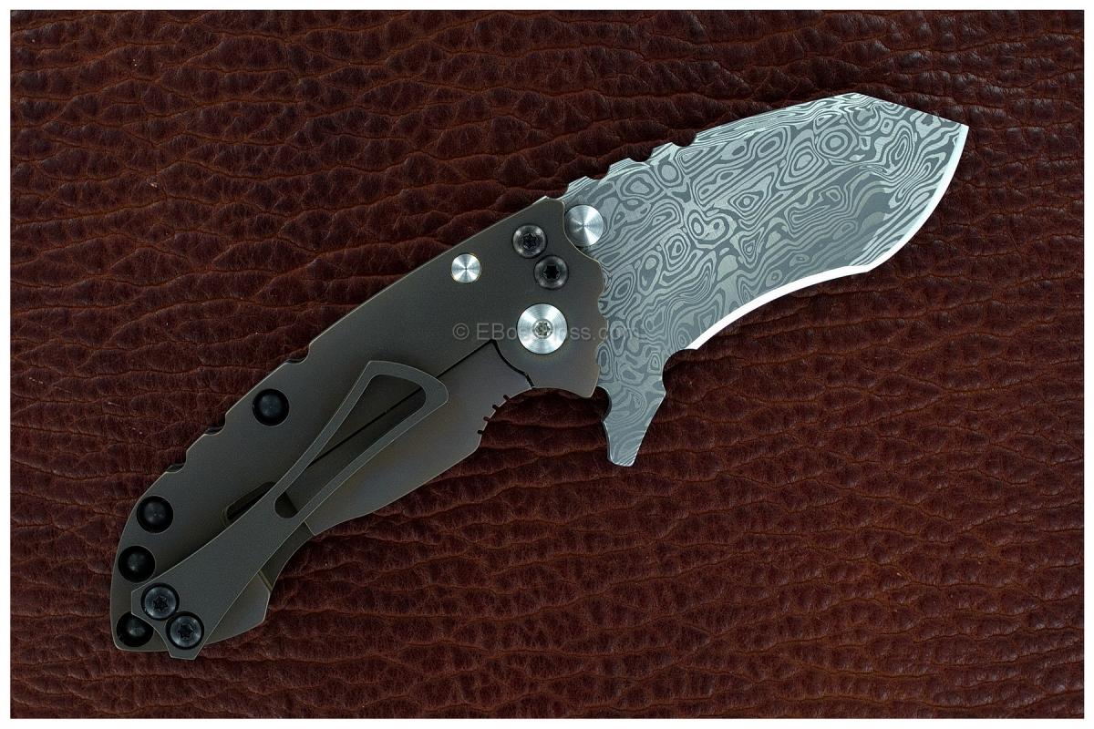 DIREWARE Custom Knives Damasteel Solo V4 Flipper