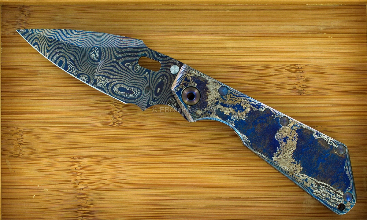 Mick Strider Custom (MSC) Cobalt Damascus XL SweEEt