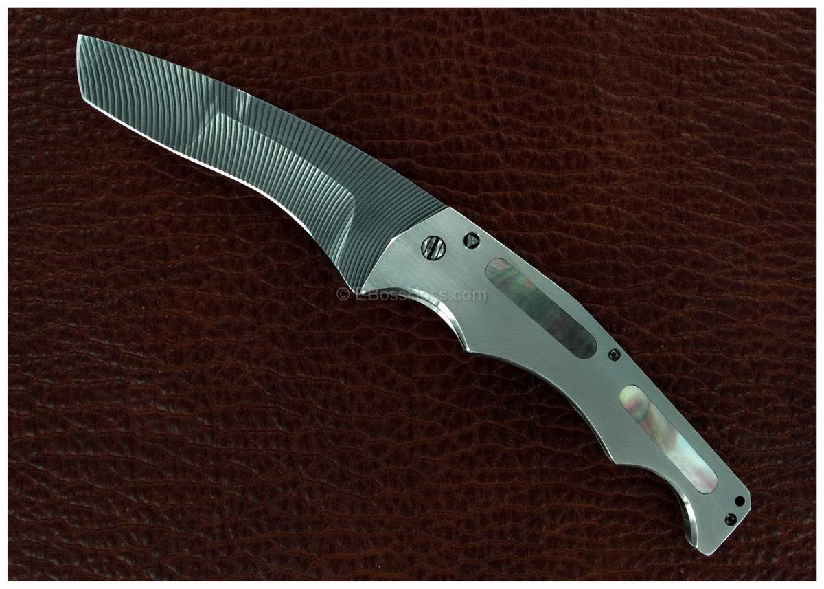 Gustavo Cecchini (GTC Knives) Custom Very Deluxe 50 Cal Flipper
