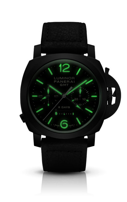 Panerai 317 (Officine Panerai) PAM00317 - Luminor 1950 Chrono Monopulsante 8 Days GMT Ceramica - 44mm