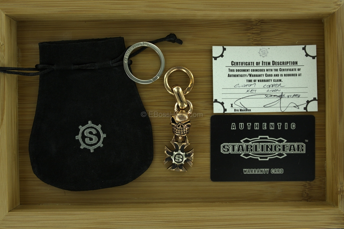 Starlingear Copper Kami and Maltese Cross w/SGear Key Chain Fob