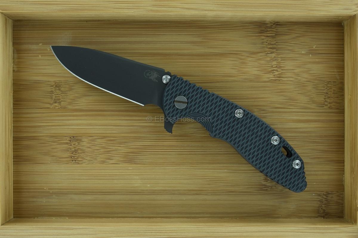 Hinderer Knives XM-18 Gen 4 Black PVD DLC Slicer Flipper