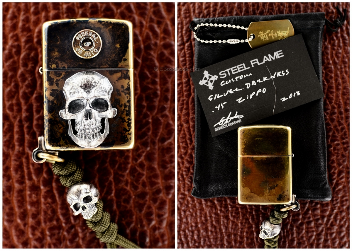Steel Flame Custom Silver Darkness Copper Zippo w/ a little more Darkness