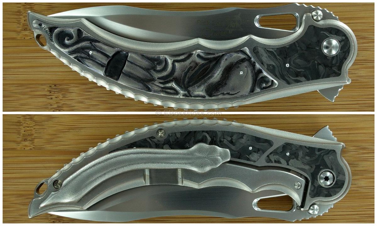 Korth Cutlery Carved Skull Reptile Flipper