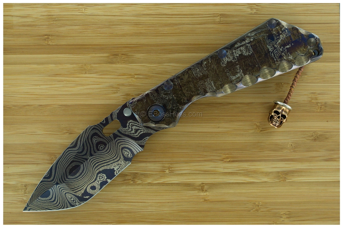 Mick Strider Custom Cobalt-Damascus Nightmare XL SnG w/ MSC Tail