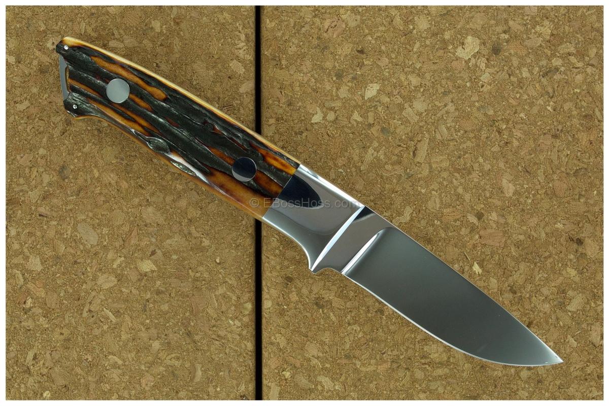 S.R. Johnson Semi-Integral Classic Stag Drop Point Hunter