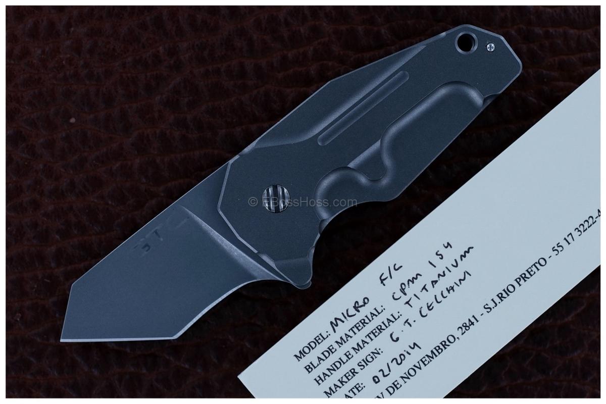 Gustavo Cecchini (GTC Knives) Custom Micro F/C Flipper