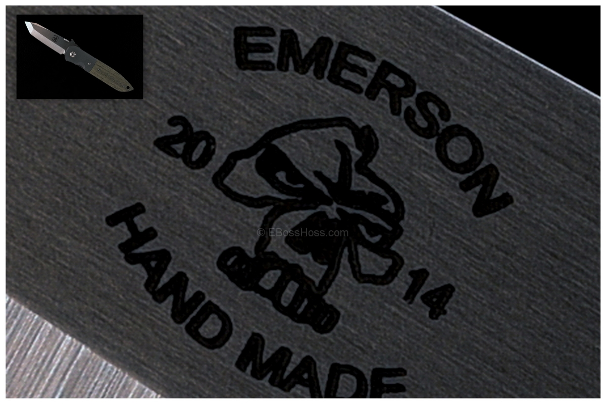 Ernie Emerson Custom CQC-6 w/ New Emerson HAND MADE Logo
