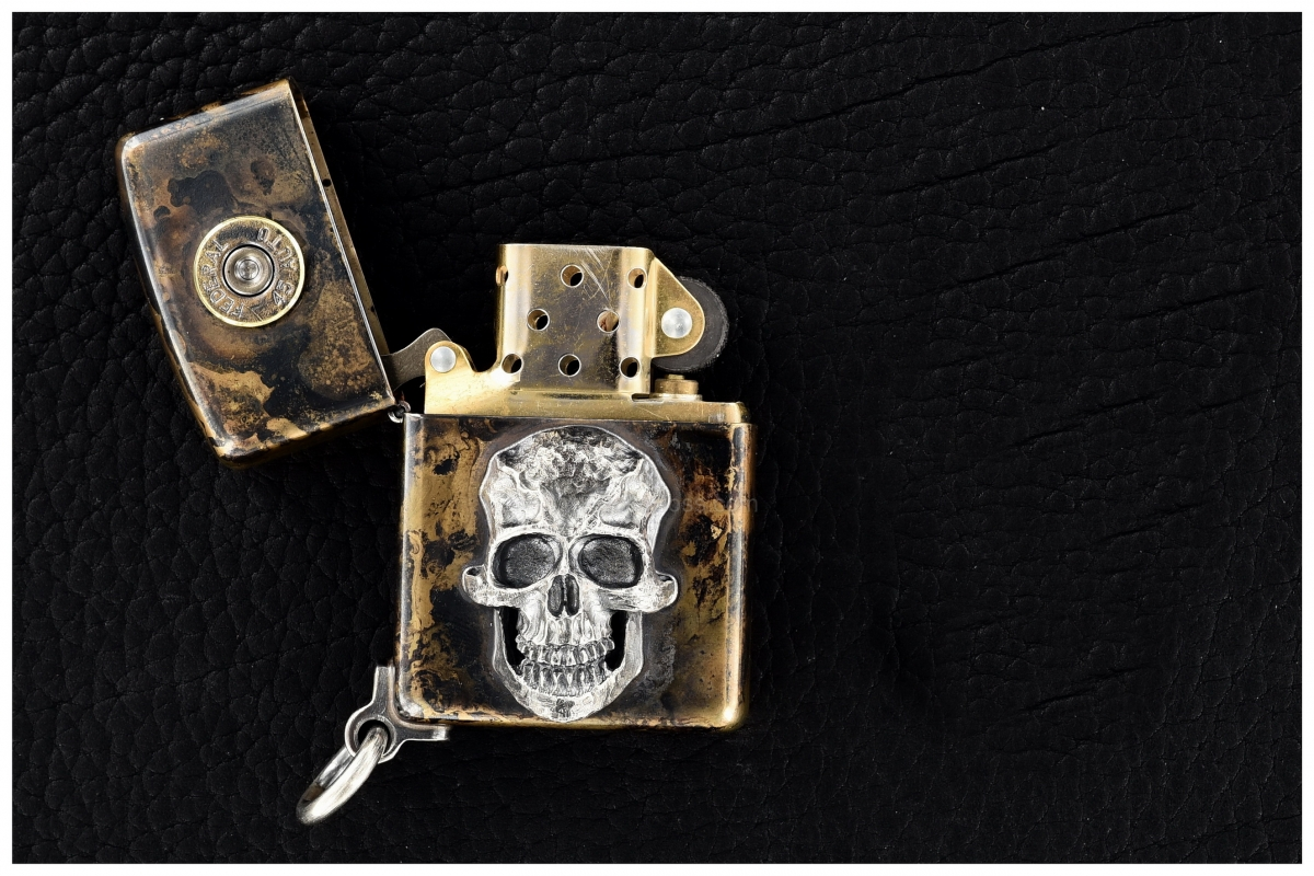 Steel Flame Custom Darkness Zippo Lighter