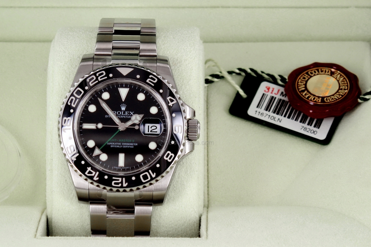Rolex SS GMT Master II Ceramic-Bezel Green Arrow 11671