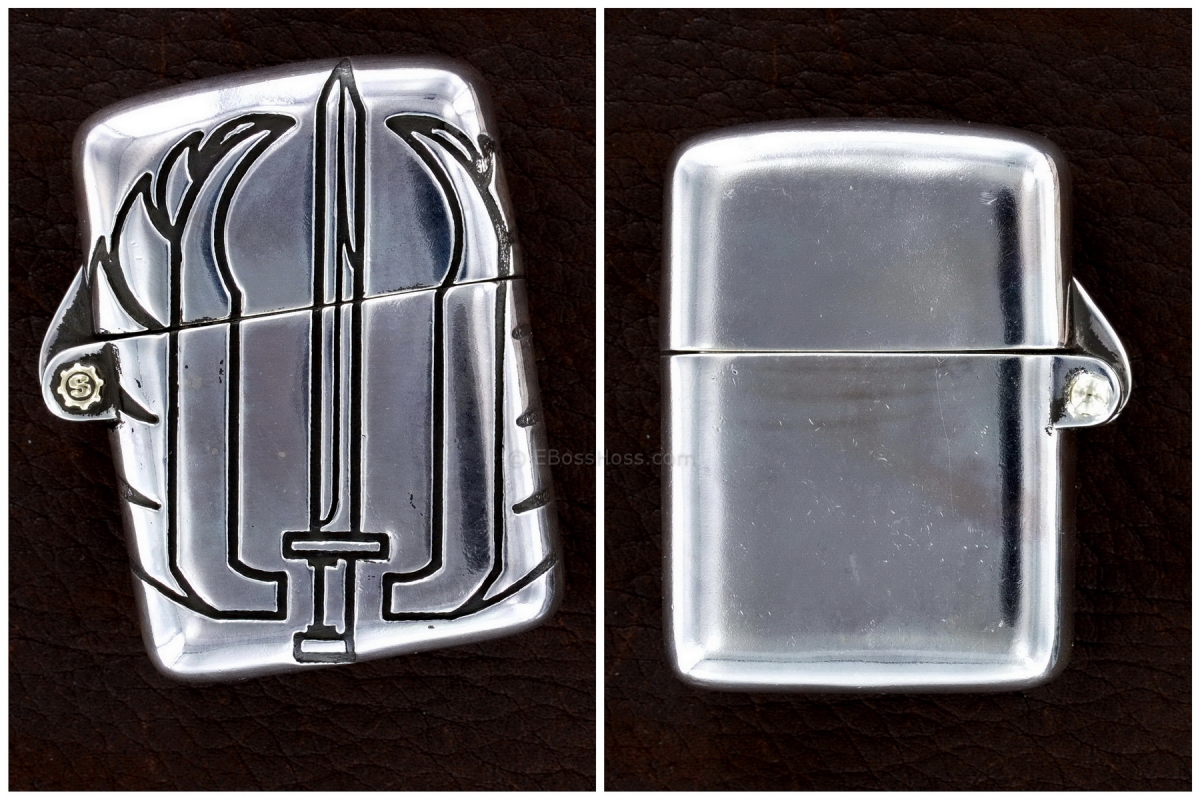 Starlingear Custom Sterling Silver Strider-logo Zippo-Style Lighter