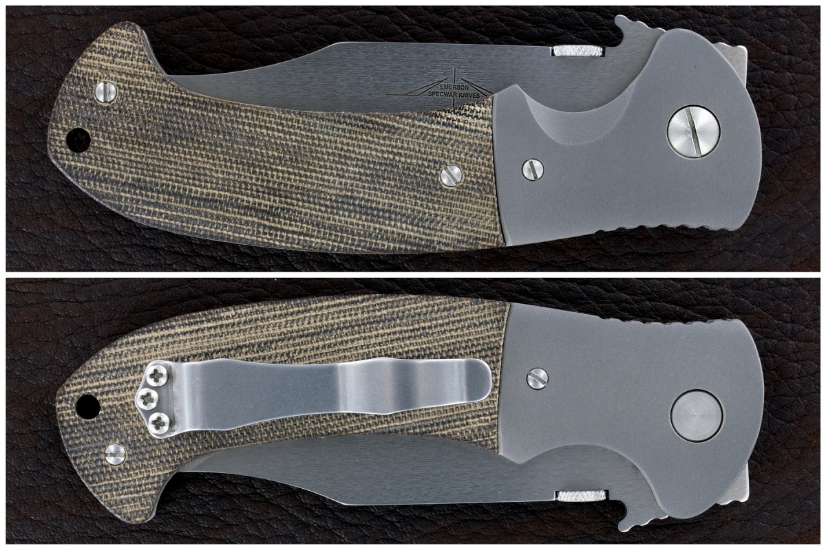 Ernie Emerson Custom Bolstered CQC-13 Waved