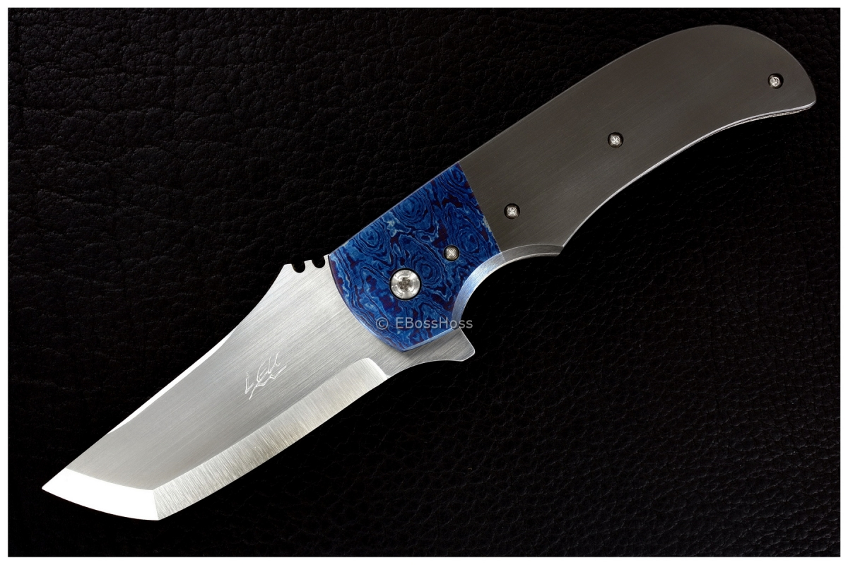 Pohan Leu Custom Zirc & Timascus Bluephin Flipper