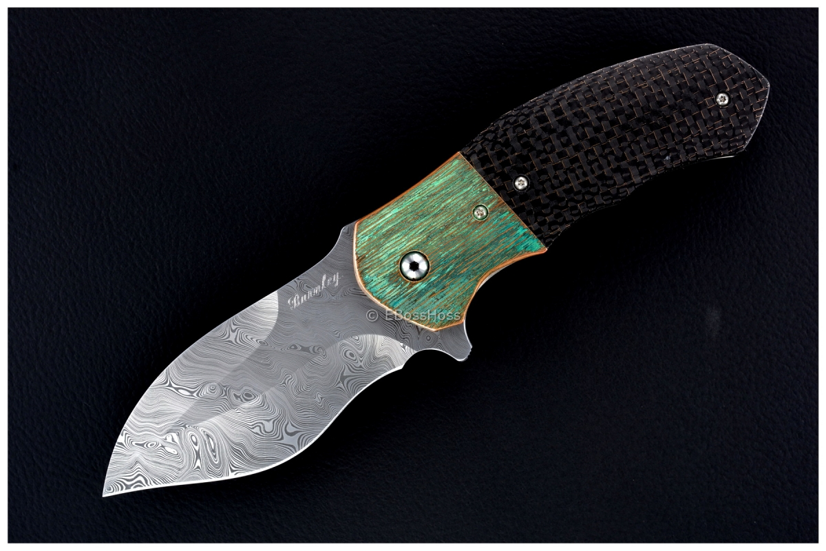 Lucas Burnley Custom Deluxe Damascus Pelican Flipper