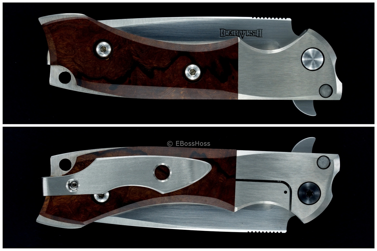 Dervish Knives by John Gonzales Deluxe Alchemy Bolsterlock Flipper