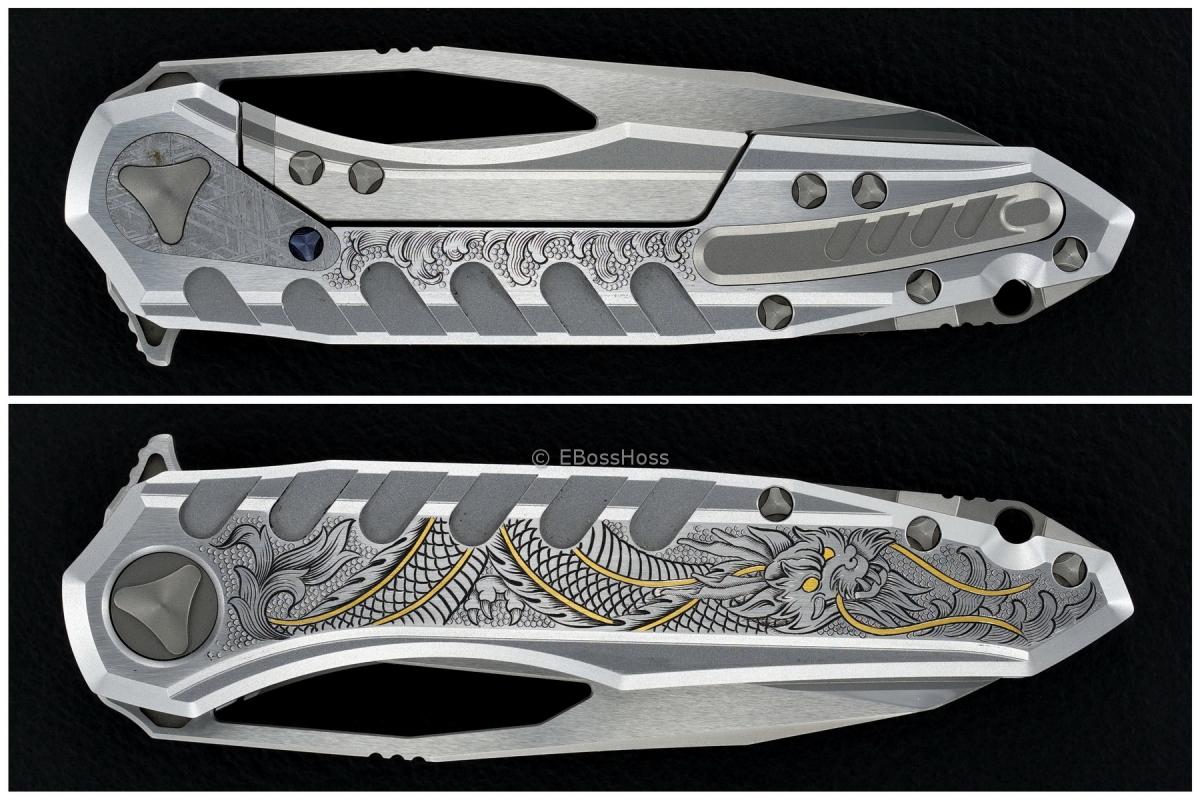 Deryk Munroe / Tony Marfione Custom Collab Engraved Sigil Flipper