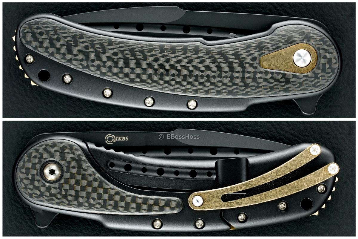 Todd Begg Knives Black-Gold Bodega Flipper