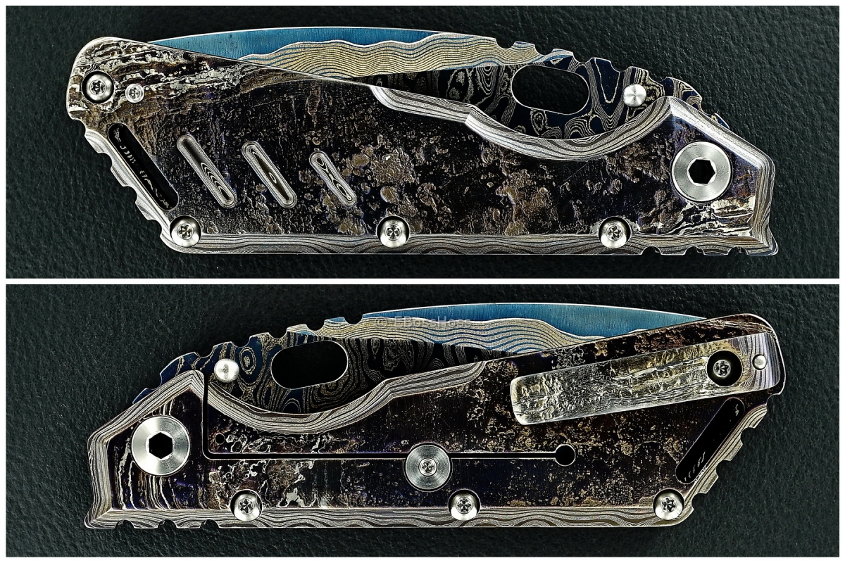 Mick Strider Custom (MSC) San Mai Damascus XL Recurve Tanto