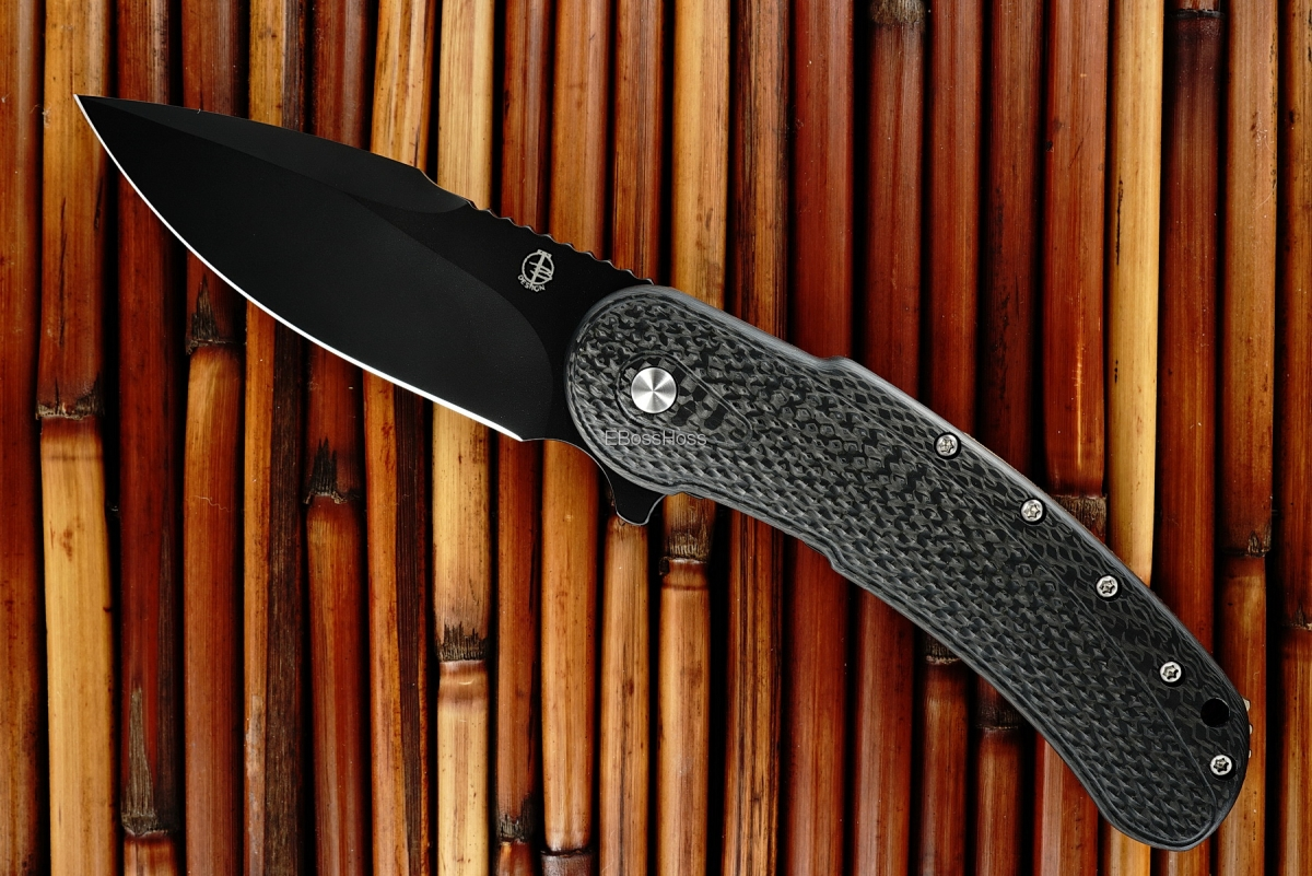 Todd Begg Black-bladed Carbon-Fiber Bodega Flipper